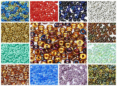 CHOOSE COLOR 5g 155-170pcs 1x4mm O bead® Czech Pressed Glass