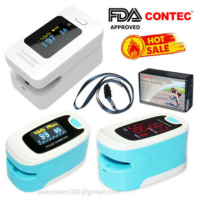 USAFinger Pulse Oximeter SPO2 Sensor Pulse Heart Rate Blood Oxygen MonitorFDA