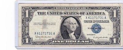 1957 One Dollar Well Circulated Silver Certificate Note - 1 Bill