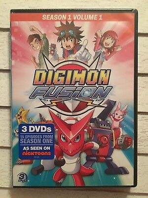 Digimon Fusion DVD 3 Disc Set  Season 1 Volume 1 Nicktoons