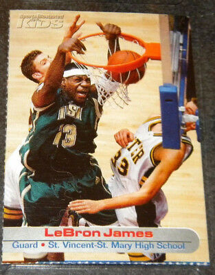 2003 1ST LEBRON JAMES CARD SPORTS ILLUSTRATED FOR KIDS ROOKIE NMMINT