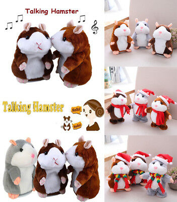 US Cute Cheeky Hamster Talking Mouse Pet Christmas Toys Speak Sound Record Gifts