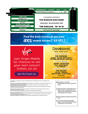 2 Marcus King Band tickets - Boston 1118