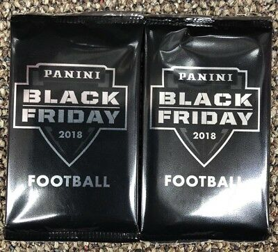 2x-  2018 PANINI BLACK FRIDAY FACTORY SEALED FOOTBALL PACKS-