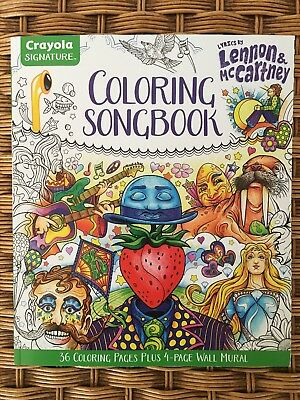 THE BEATLES Lyrics by John Lennon - Paul McCarney COLORING BOOK 36 Pages NEW