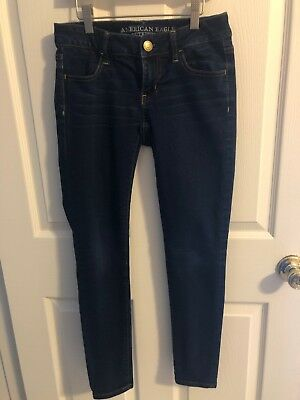 American Eagle Outfitters Dark Denim  Super Stretch Jeggings Womens Size 0 8
