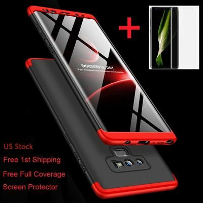 For Galaxy Note 1098S10S9S8PlusShockproof 360° Case-Screen Protector