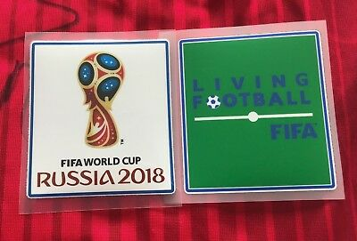 Set 2018 FIFA World Cup Football Soccer Iron On Patch Badge Player Issue Vinyl