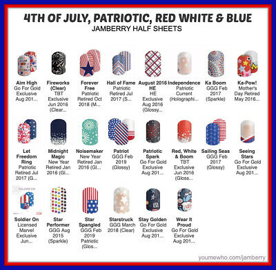 jamberry half sheets fourth of july fireworks 4th patriot  buy 3- 10 off🇺🇸