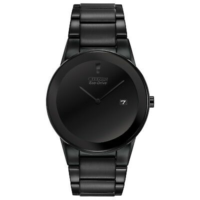 Citizen Eco-Drive Axiom Mens Black Out Ion Plated 40mm Watch AU1065-58E