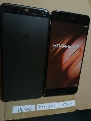 TELEPHONE PORTABLE FACTICE dummy smartphone N°A99-3 : HUAWEI P10 gris