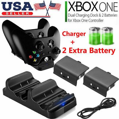 For XBOX ONE Dual Charging Dock Station Controller Charger - 2 Recharged Battery