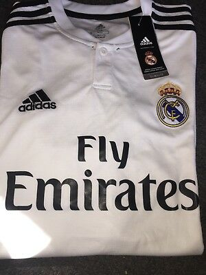 Adidas Fly Emirates Real Madrid white soccer jersey men size M - XL