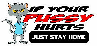 3 If Your Pussy Hurts Just Stay Home Sticker HelmetHard HatMotorcycle Sticker