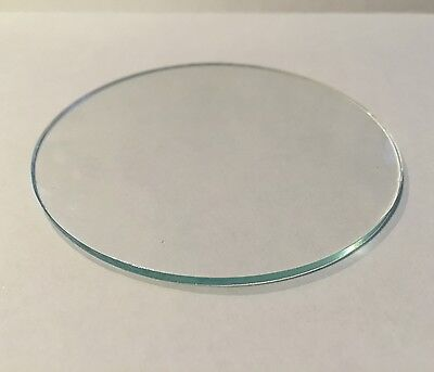 Clear Glass Disk Glass Lens cut to size between 3 inches up to 5 inches