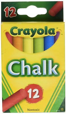 Crayola Chalk Assorted Colors 12 Sticks Per Box