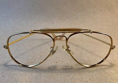 8f4892752bbaf7 Vintage Ray Ban Outdoorsman The General 1987 Gold Arista 58 14 B-L Lomb