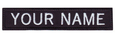 Military Rectangular 3 to 6 x 1 Personalized Embroidered Name Text Tag Patch