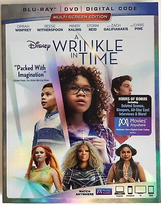 A WRINKLE IN TIME  Blu-Ray - DVD - Digital Code New Factory Sealed