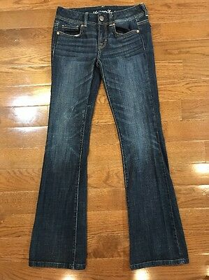 Womens Size 2 American Eagle Outfitters Jeans Original Boot Cut Dark Wash