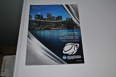 2014 East Regional March Madness New York NY Game Program