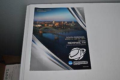 2014 South Regional March Madness Memphis TN Game Program