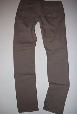 American Eagle Outfitters Skinny Jeans Size 12 x 35 X-Long Tan Denim Stretch