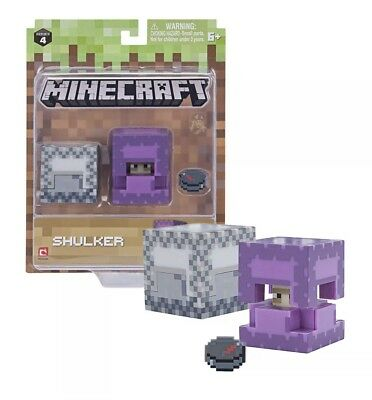 Minecraft Shulker with White Shulker Box and Compass New in Package