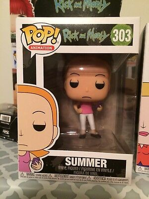 Funko Pop Animation Rick And Morty Summer 303 Vinyl Figure