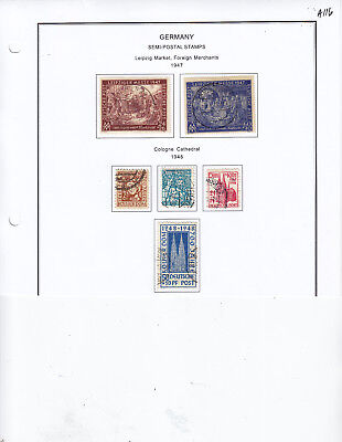 Germany Semi Postal Stamp Lot From Collection A116
