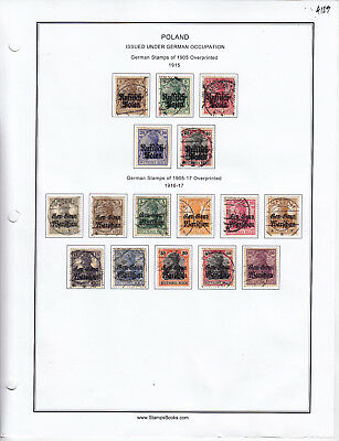 Germany Stamp Lot From Album Collection A123