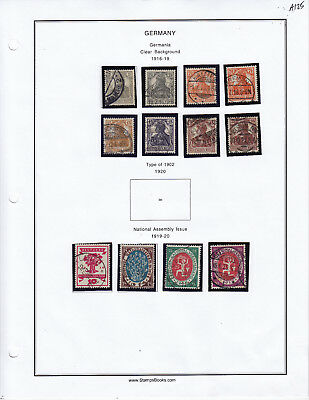 Germany Stamp Lot From Album Collection A125