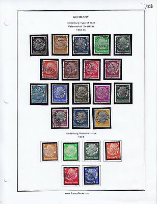 Germany Stamp Lot From Album Collection A126