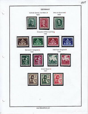 Germany Stamp Lot From Album Collection A127