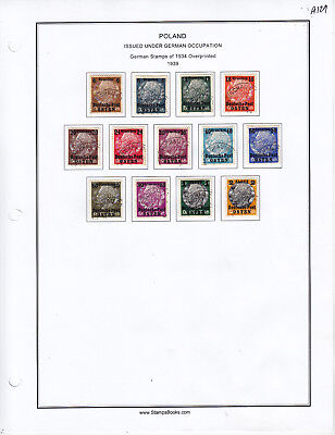 Germany Stamp Lot From Album Collection A129