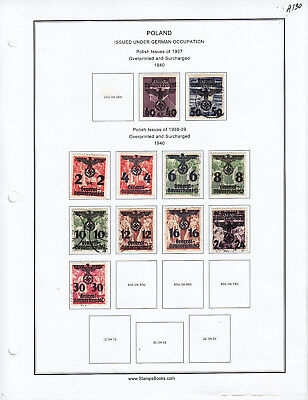 Germany Stamp Lot From Album Collection A130