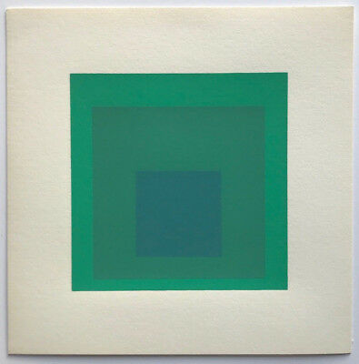 Josef Albers Hommage to the Square 8 Green screenprint by Ives Sillman
