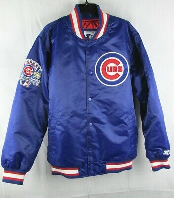Starter Mens Cubs 1990 All Star Game Baseball Coat Size XL