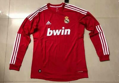 Real Madrid soccer Red 2012 Retro long sleeve jersey
