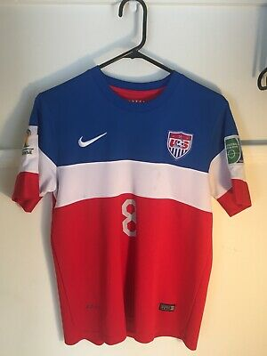 Clint Dempsey USA 2014 World Cup  8 Nike DRI-FIT Large Soccer Jersey RARE