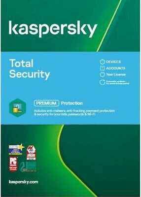 KASPERSKY TOTAL SECURITY 2021  5 PC MULTI DEVICE - 2 YEARS COVER - Download