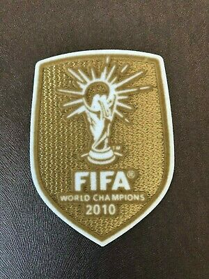 2010 World Cup Champions Spain Soccer Kit Shirt Iron On Embroidered Patch Badge