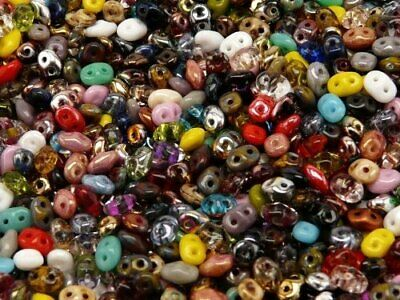 20g 2-5x5mm MIX of SuperDuo 2-hole Seed Beads Czech Glass RK2000
