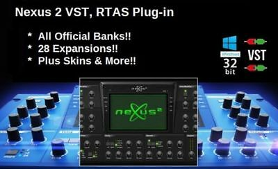 NEXUS 2 VST Plugin with Expansions - 64-bit Adapter Windows PC - E-DELIVERY
