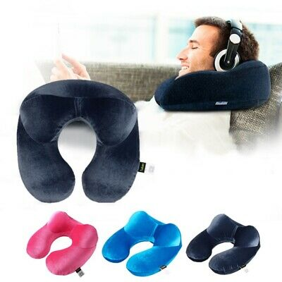 Soft U-shaped Travel Pillow Neck Support Head Rest Airplane Soft  Cushion US