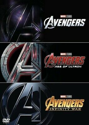 AVENGERS 1-3 DVD Film Trilogy Collection Assemble Age of Ultron Infinity War