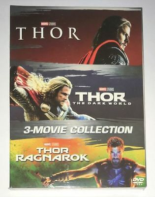 THOR 3 Film Movie Collection DVD Box Set 1-3 Trilogy New - Sealed with Slipcover