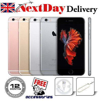 Apple iPhone 6s 16GB 32GB 64GB 128GB Sim Free Unlocked Smartphone UK - Plus Gift
