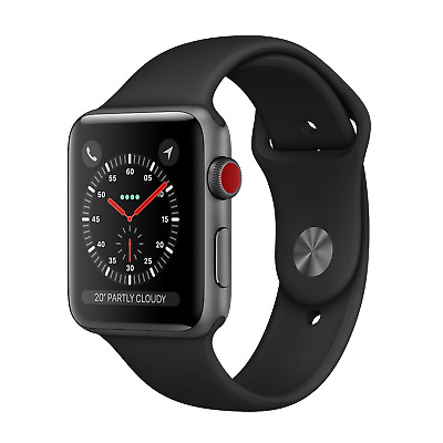 Apple Watch Series 3   38mm  Aluminum   Space Gray GPS - Cellular