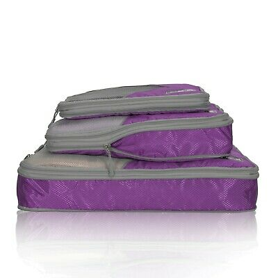 Hynes Eagle 3pcs 50 Compression Expandable Waterproof Travel Packing Cubes